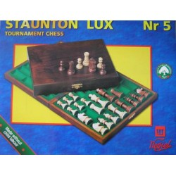 Chess Staunton Lux in wooden case   ( S-10 )