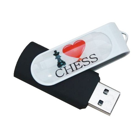 "Memory stick ""I LOVE CHESS"" (A57/2)"