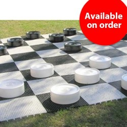 Garden Checkers - Large, plastic (S-43/W)