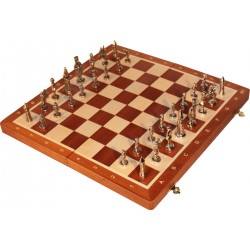 Warsaw Chess with metal figures! (S-001)