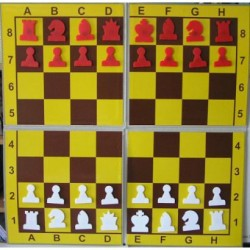 Magnetic chess demonstration folding on 4 (S-95)