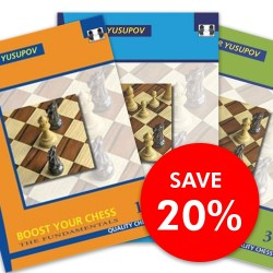 Artur Yusupov - Boost Your Chess 1 - 3  SET (K-2258/set)