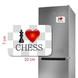 Large Magnet I LOVE CHESS (A-72)