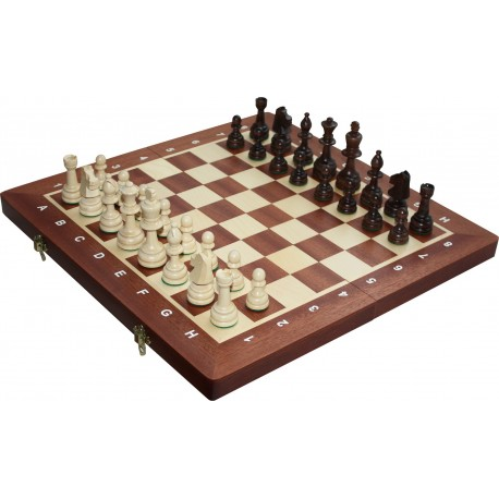 Wooden Tournament No. 4 Chess Set - Inlaid (S-11/II)