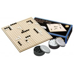 Set: Folding wooden Goban + stones to GO (G-4)