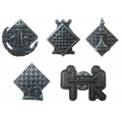 Metal Buttons - 5 designs (A-81)