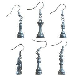 Earrings Chess Figures (A-82)