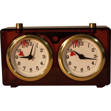 Plastic transparent clock - 4 colors