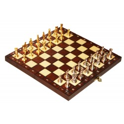 "Chess ""GREEK"" - with metal figures - small (S-012)"