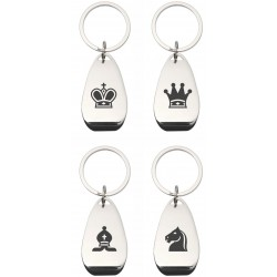 Metal Opener / Keyring with Chess Symbols (4 patterns) (A-92)