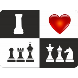 "Mouse Pad ""I Love Chess""  (A-74/03)"