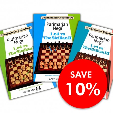 Set of 1.e4 vs. Sicilian - 3 Volumes by Parimarjan Negi (K-5322/kpl)