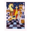 Chess picture in wooden frame (A-97/3)