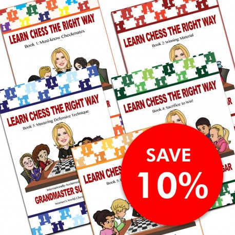 Learn Chess The Right Way: Book 1-5 (5 book set) (K-5349/set)