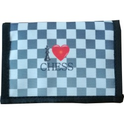 "Wallet with a Chess Motif ""I LOVE CHESS"" (A-108)"