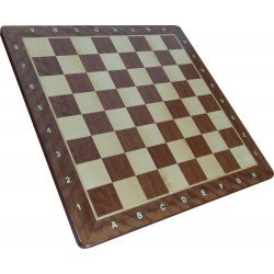 Wooden Chessboard No. 5 - exotic wood Paduka rounded corners (S-187)