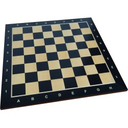 Black, exclusive wooden No. 6 chessboard / inlaid / maple (S-185)