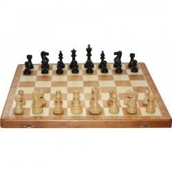 American No. 6 - Black chess pieces (S-164)