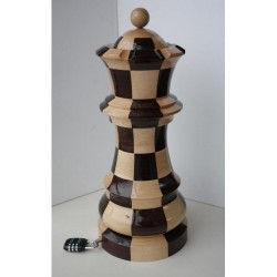 Wooden Cup - Giant Chess Hetman and Chess riddle + Surprise inside (A-52)