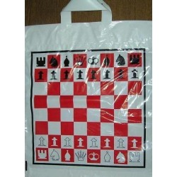 Plastic bag with chess motive (A-44)