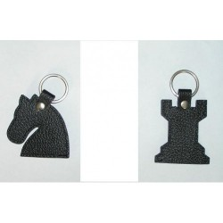 Leather key ring, large (A-47)