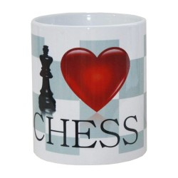 "Ceramic Mug ""I LOVE CHESS"" (A-55)"