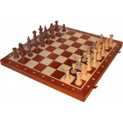 Tournament Chess Set No 5 - Mahogany (S-12)