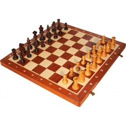 "Tournament Chess Set no. 5 ""Cherry"" Inlaid (S-12/wis)"