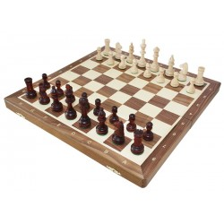 Chess Tournament no. 4 Inlaid Walnut (S-11 / orzech)