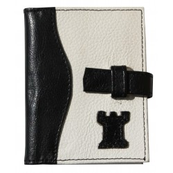 Notes in black and white case (eco leather) (A61/b)