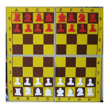 Magnetic chess demonstration folding on 4
