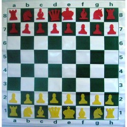 Magnetic Rollable DEMO chessboard 77 x 77 cm