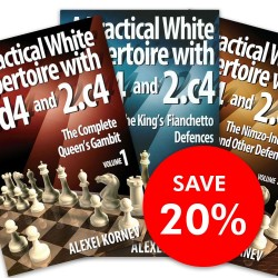 Alexei Kornev - A Practical White Repertoire with 1.d4 and 2.c4 Vol. 1, 2, 3 (K-3598/set)