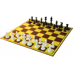 10x Set of Plastic pieces no. 6 + Carton chessboard (Z-16)