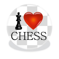 Button I LOVE CHESS (A-79)