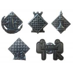 Metal Buttons - 5 designs (A-81)