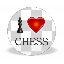 "Magnet ""I LOVE CHESS"" (A-84)"