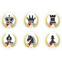 Button I LOVE CHESS - pieces (A-85)