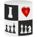 "Ceramic Mug ""I Love Chess"" b/w (A-94)"