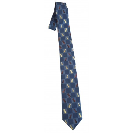 Stylish Tie with Chess Symbols (A-90)
