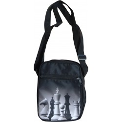 Men's shoulder bag with chess motif (A-102)