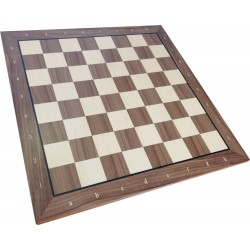 Exclusive wooden chessboard No. 6 / inlaid / walnut (S-184)
