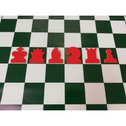 Red magnetic chess pieces for demonstration chessboard (S-188/c)