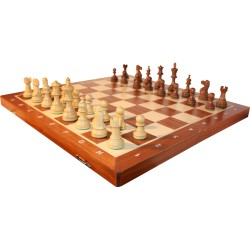 American - Tournament chess No. 5 / Brown (S-004)