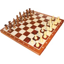 Chess Pieces No. 6 American / exotic wood / Brown (S-002/f)