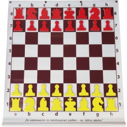Magnetic rollable Demo Chessboard with pieces (S-189)