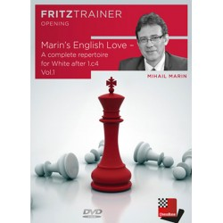 Marin's English Love - A complete repertoire for White after 1.c4 Vol.1 by Mihail Marin (P-0057)