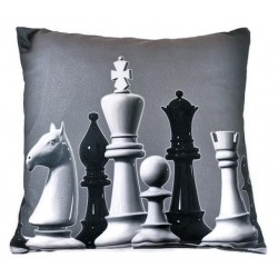 Pillow with chess figures motif (A-131)