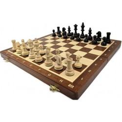 Wooden tournament chess No. 4 / inlaid / mahogany (S-11/T)