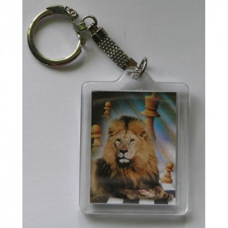 Plastic Keyring with a picture of chess (A-43)